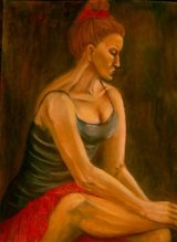 Dancer, pastel