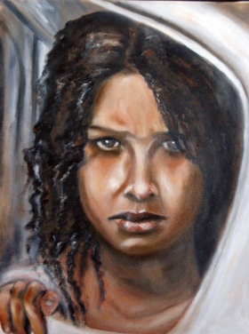 Girl Looking 4, oil