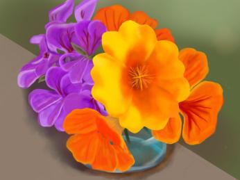 June flowers, digital