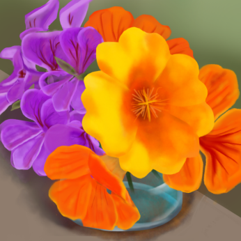 June flowers, digital