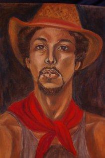 Young man, pastel