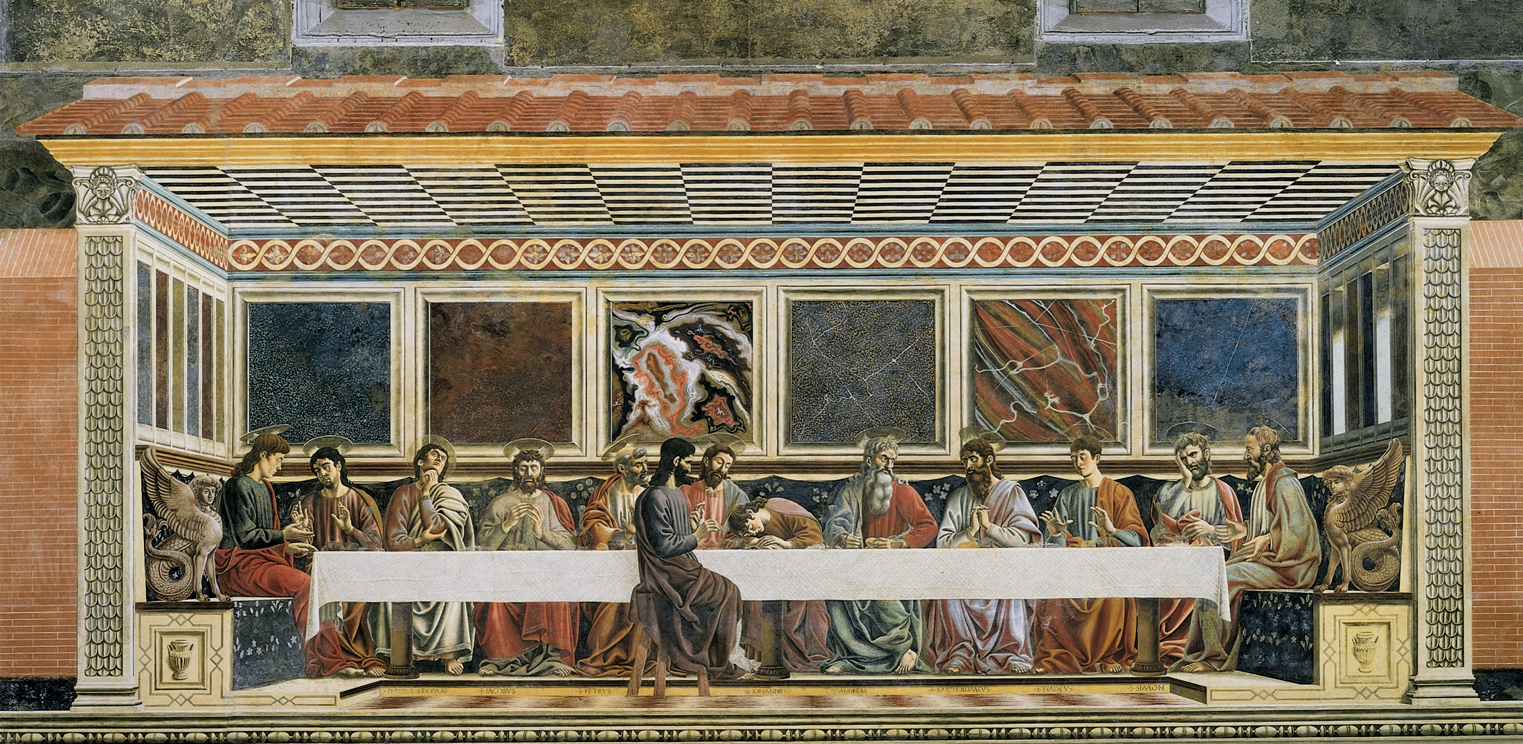 Diving into Renaissance Art: Three Versions of The Last Supper: 1.  Castagno