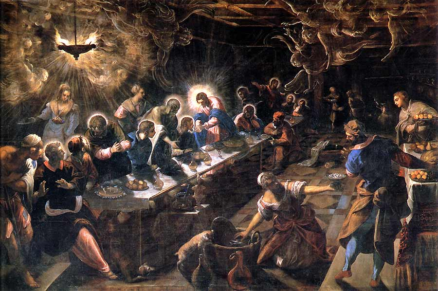 Diving Into Renaissance Art: Three Versions of The Last Supper: 3. Tintoretto's Mannerism