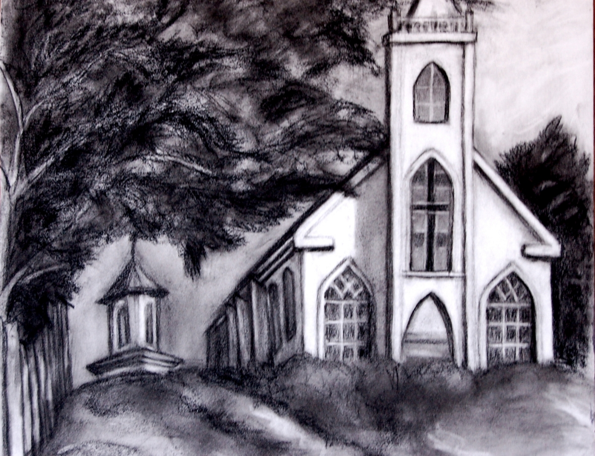"St. Theresa""s Church, Bodega CA (pencil)"