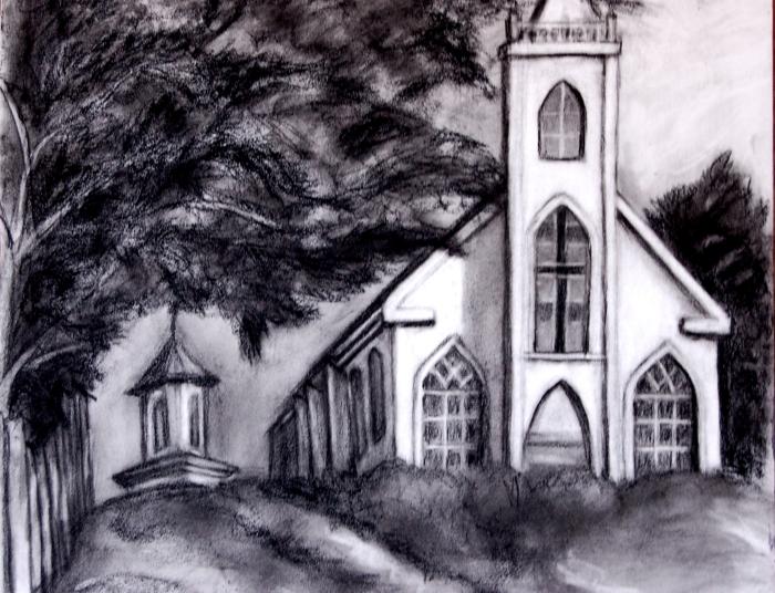 "St. Theresa""s Church, Bodega CA (pencil)"