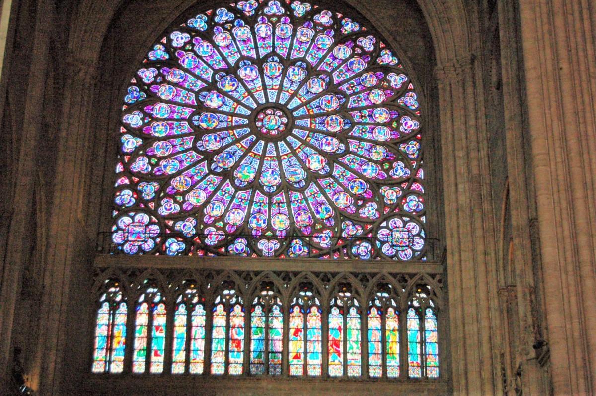 Rose window, Notre Dame, Paris